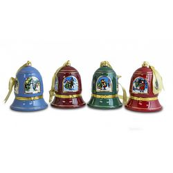 Christmas Musical Bell Porcelain Ornaments