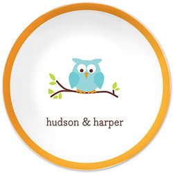 Kid's Personalized Owl Plate