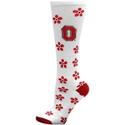 Ohio State Buckeyes Women's Petal Power Knee High Socks
