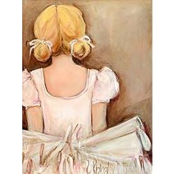 Sweet Blonde Ballerina Wall Art