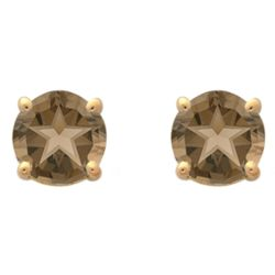 Texas Star Smokey Quartz Stud Earrings