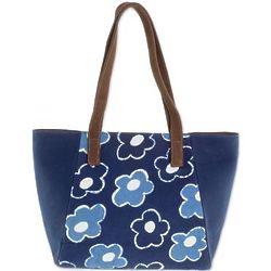 Flowers of Yesteryear Batik Cotton Shoulder Bag