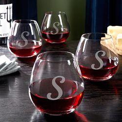 4 Viviani Personalized Stemless Wine Glasses