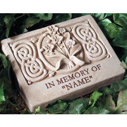 Wild Orchid Engraved Memorial Stone