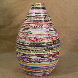Ecological Cool Recycled Paper Vase