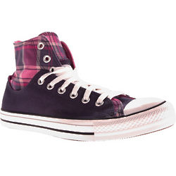 Converse Chuck TaylorAll Star Layer Up Hi in Navy/Plaid