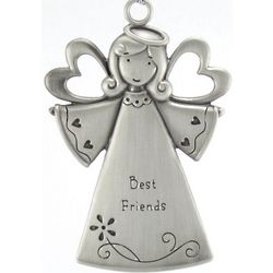 Engraved Best Friends Angel Ornament