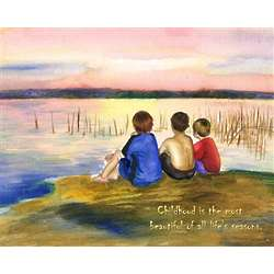 Personalized Childhood Watercolor Print