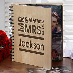 Personalized Mr. and Mrs. Wedding Photo Album