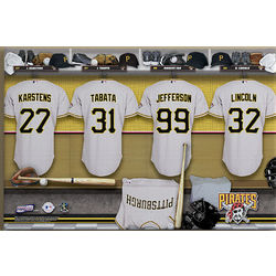 Large Personalized Pittsburgh Pirates MLB Locker Room Canvas