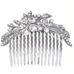Cassandra Crystal Accented Hair Comb