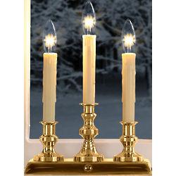 Brass Triple Candleabra