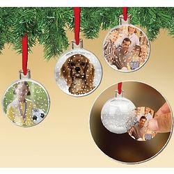 Photo Display Snow Globe Ornaments