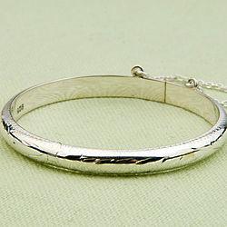 Baby Girl's Bauble Sterling Silver Bangle Bracelet