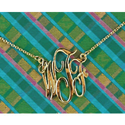 WTF Monogram Necklace