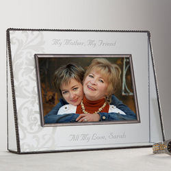 Sweet Sentiments Personalized Glass Photo Frame