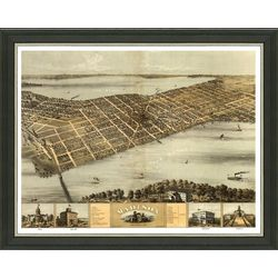 Framed Map of Vintage Madison