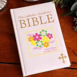 Personalized Flowers and Faith Catholic Children's Bible