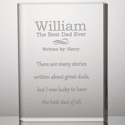 Best Dad Story Personalized Crystal Plaque
