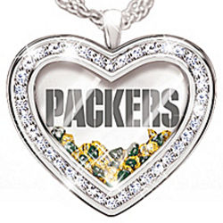 My Heart Belongs to the Green Bay Packers Necklace
