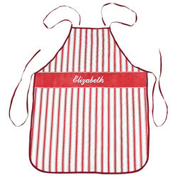 Personalized Red and White Striped Apron