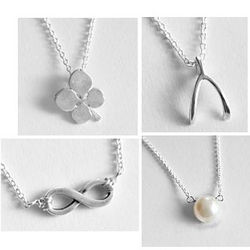 Inspirational Mini Silver Charm Necklace