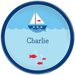 Boy's Personalized Sailboat Plate