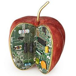 Apple Byte Desktop Sculpture