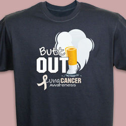 'Butt Out' Lung Cancer Awareness T-Shirt