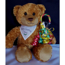 Personalized Happy Holidays Teddy Bear