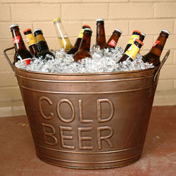 Cold Beer Bronze Beverage Tub