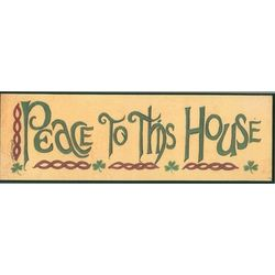 Peace to This House Plaque
