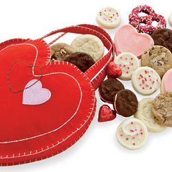 Valentine Cookies and Sweets Gift Bag