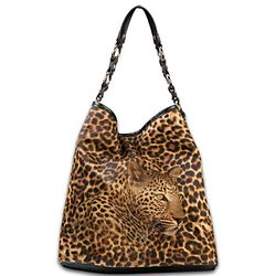 In the Spot-Light Leopard Print Purse and Wallet Set