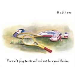 Personalized Tennis Lover Print