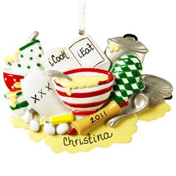 Recreational Chef Personalized Cooking Ornament iCook iEat