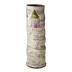 Handcrafted Home Themed Cylinder Vase