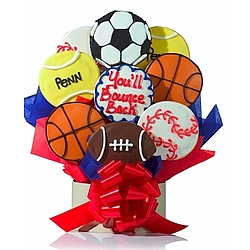 Sports Nut Cookie Bouquet