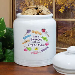 Life Is Sweeter Personalized Ceramic Cookie Jar