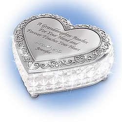 My Granddaughter I Love You Always Personalized Music Box