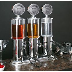 High Octane Retro Gas Pump Liquor Dispensers