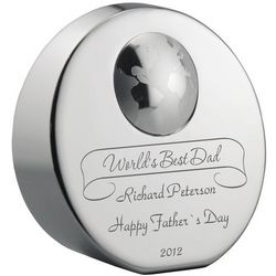 World's Best Dad Personalized Paperweight Award
