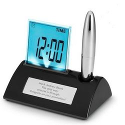 Gravity Pen Stand and Alarm Clock
