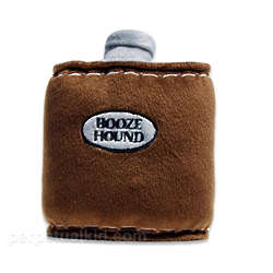 Booze Hound Flask Dog Toy
