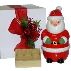 Santa Votive Candle Holder
