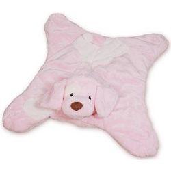 Pink Spunky Puppy Velvety Baby Blanket
