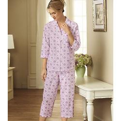 Tailored Pajamas with Capri-Length Bottoms