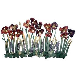Iris Metal Wall Decor