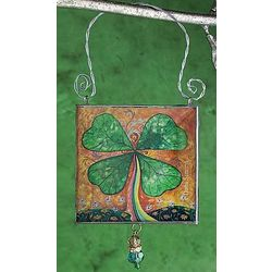 Good Luck 4-Leaf Clover Ornament