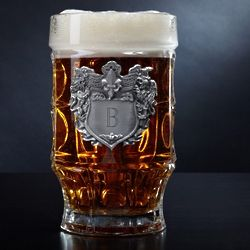Strasbourg Glass Mug with Personalized Crest